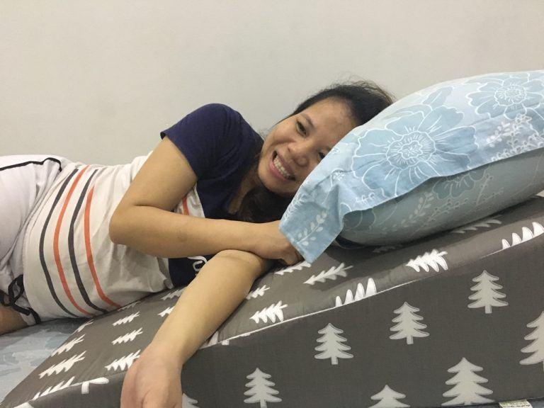 Gối nêm hỗ trợ chống trào ngược dạ dày cho người lớn Hi-Sleep loại 22cm photo review