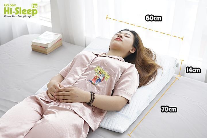 Kích thước gối chống trào ngược dạ dày Hi-Sleep loại 14cm
