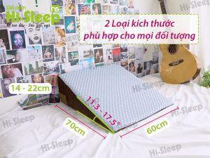 Kích thước của gối nêm Hi-Sleep