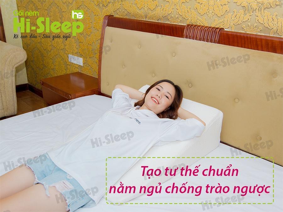 Gối nêm Hi-Sleep tạo tư thế chuẩn nằm ngủ chống trào ngược