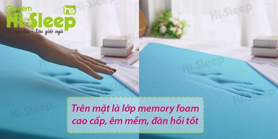 Lớp memory foam của gối nêm Hi-Sleep