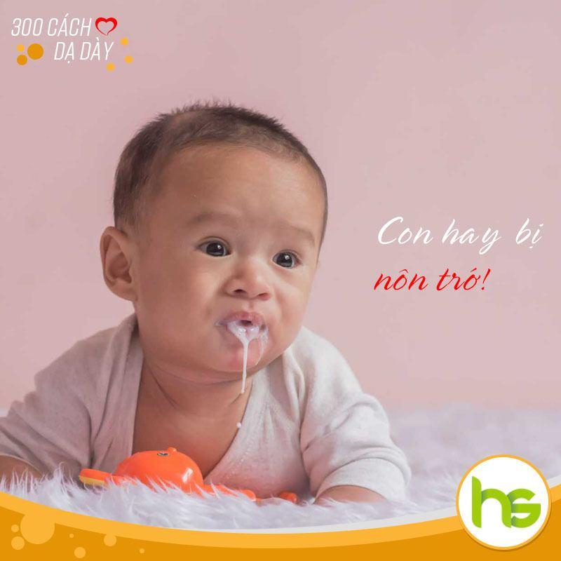 Trẻ con dưới 18 tháng tuổi hay xảy ra từng trạng nôn trớ